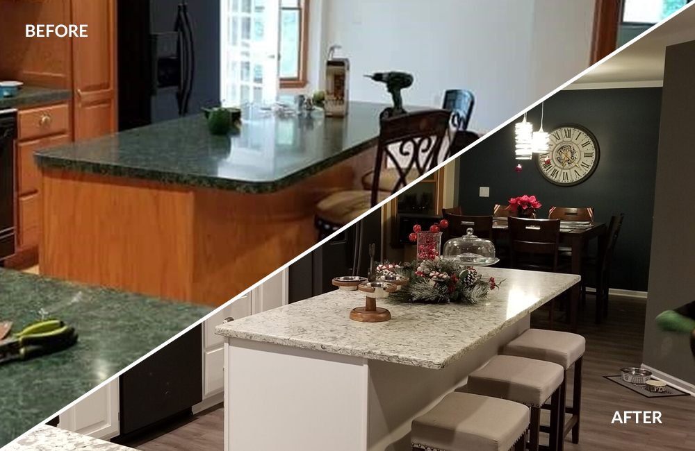 Kitchen Design & Remodeling Company in Shelby Township MI   - cabinets-before-after(1)
